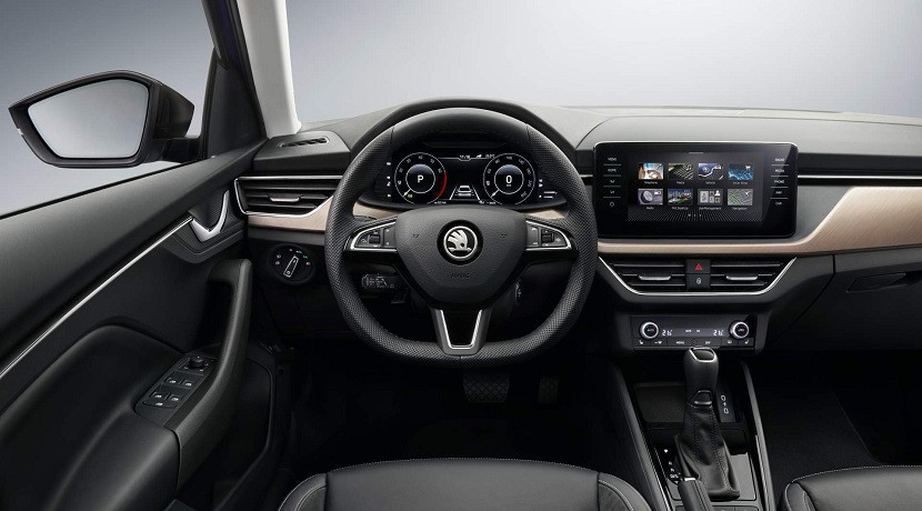 Position Driving the Skoda Scala
